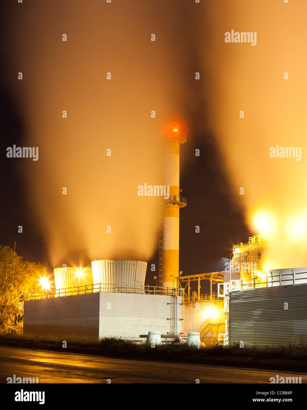Industrial cooling tower - Stock Image
