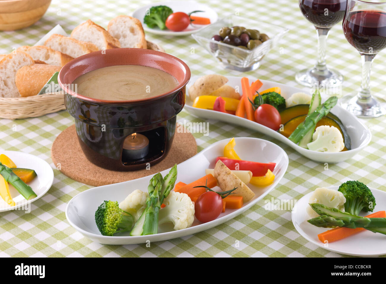 Bagna Cauda Stock Photo