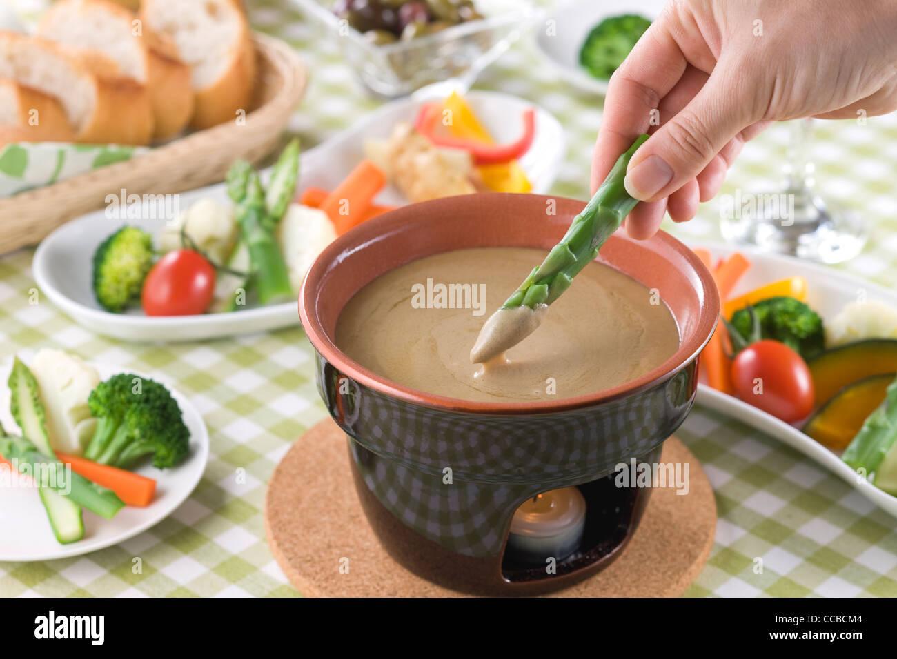 Bagna Cauda Stock Photo
