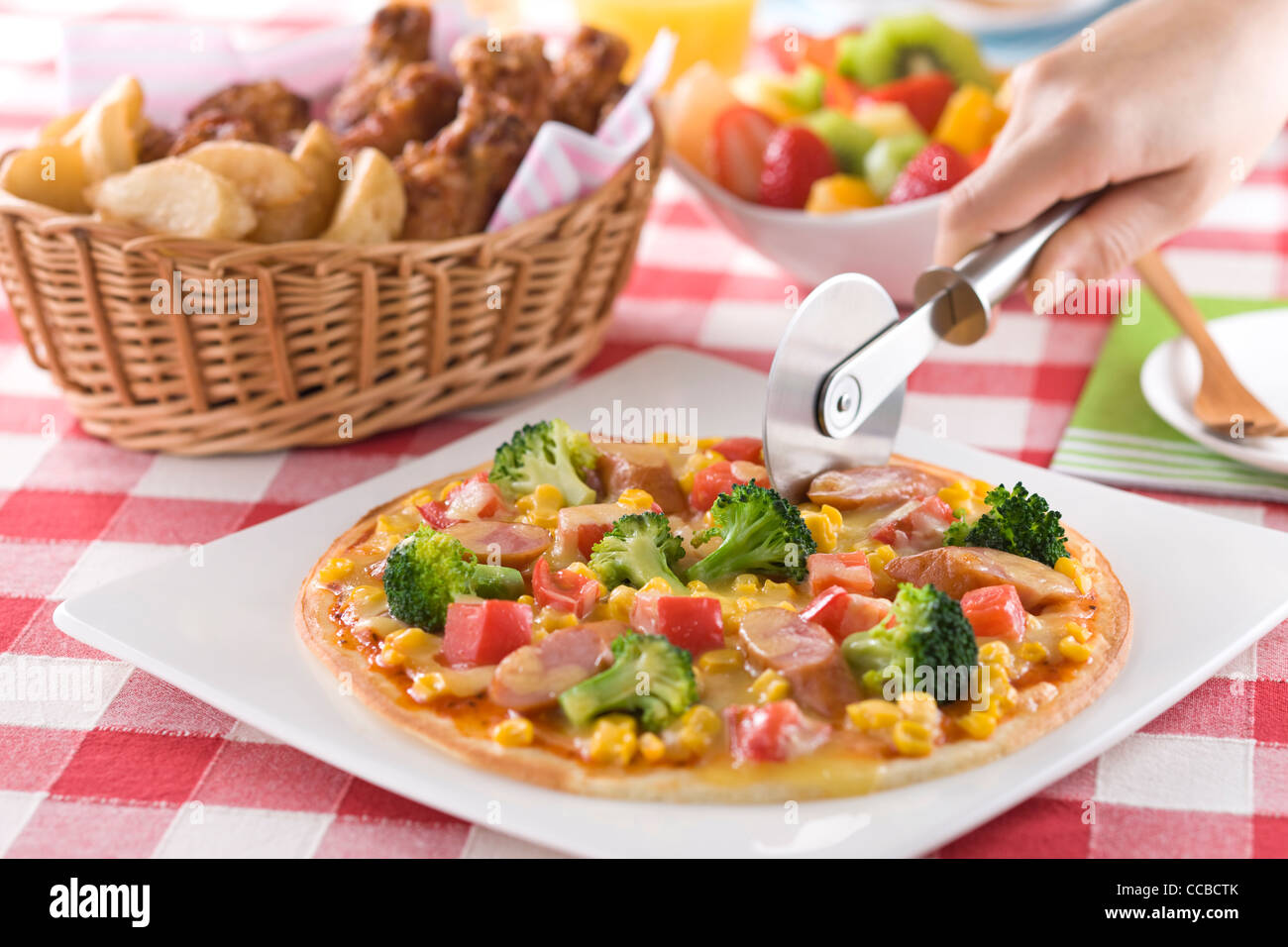 Pizza Buffet - Stock Image