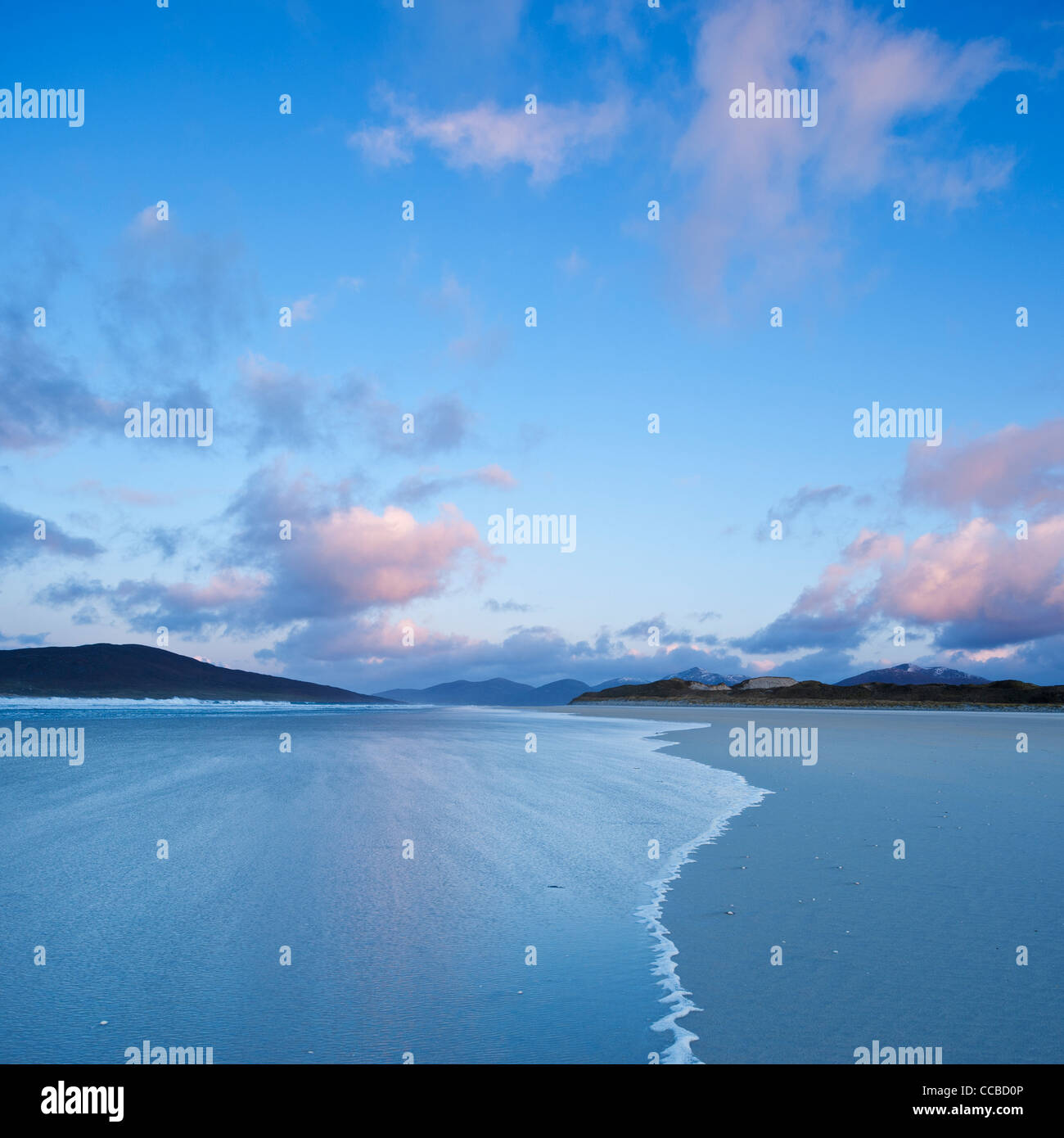Luskentyre beach at dawn, Isle of Harris, Outer Hebrides, Scotland - Stock Image