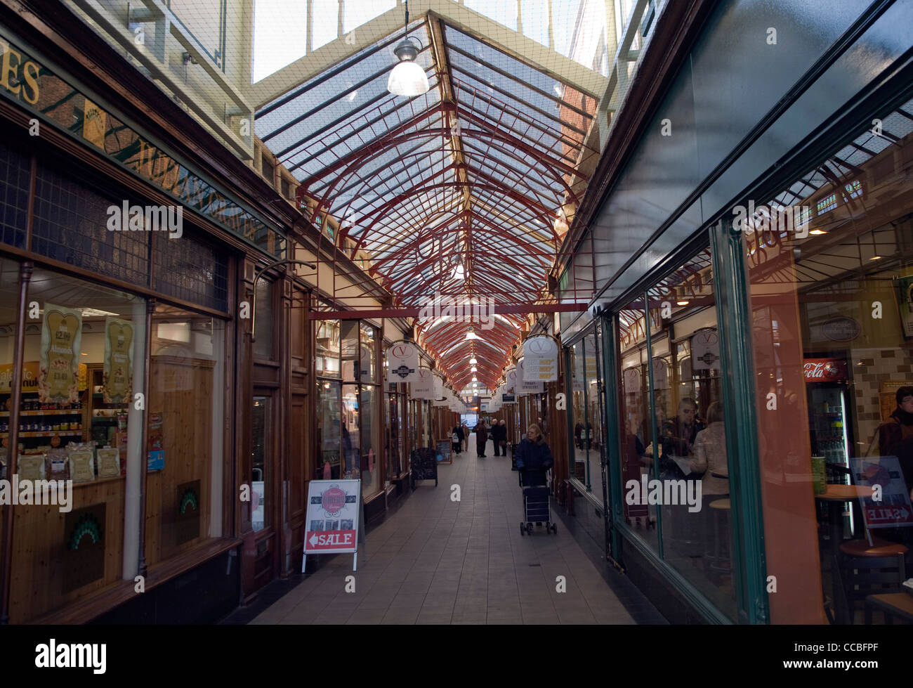Victoria arcade shops Great Yarmouth, England - Stock Image