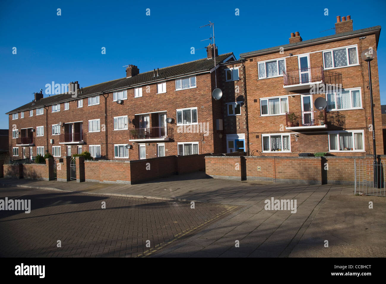 Social housing council housing Great Yarmouth, England - Stock Image