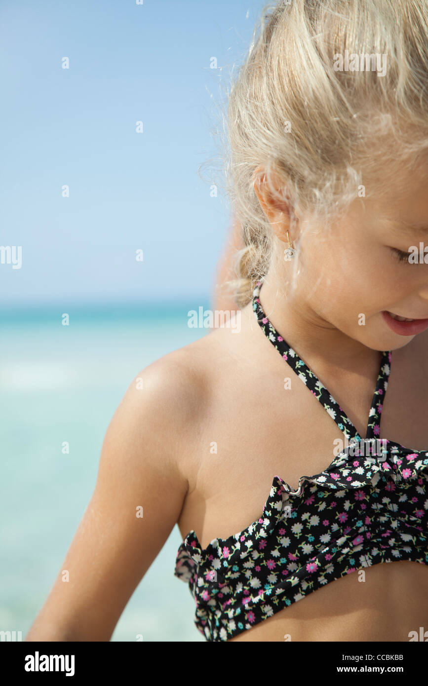 Girl at the beach - Stock Image