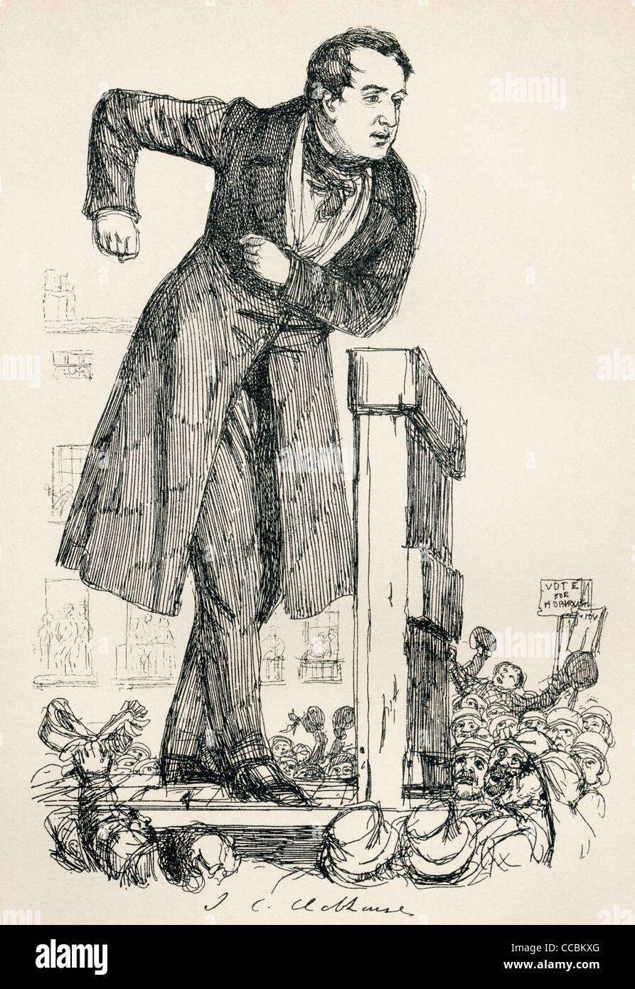 John Cam Hobhouse, 1st Baron Broughton, 1786 – 1869, aka Sir John Hobhouse. British politician and memoirist. - Stock Image