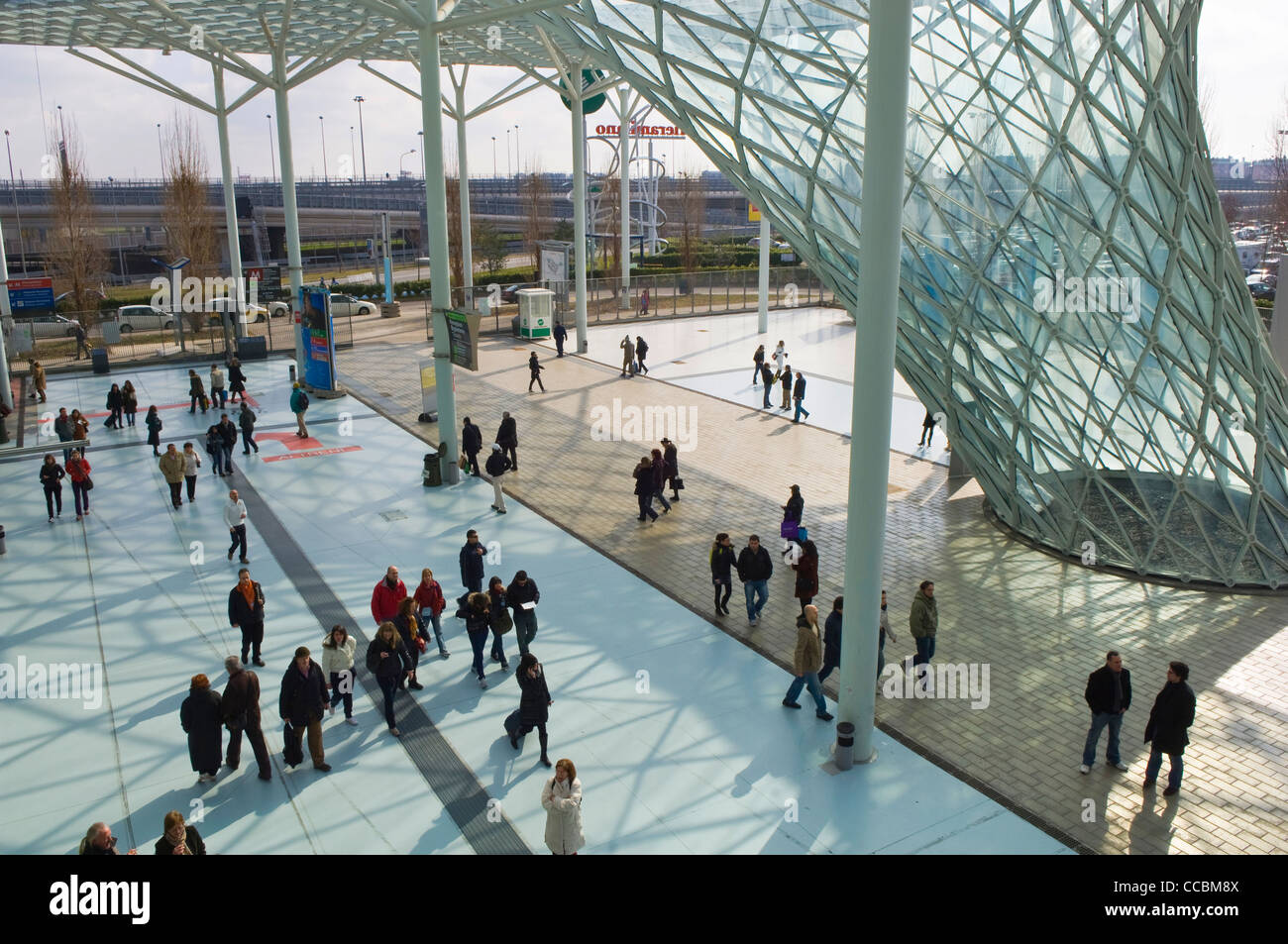 new milan trade fair, rho, italy - Stock Image