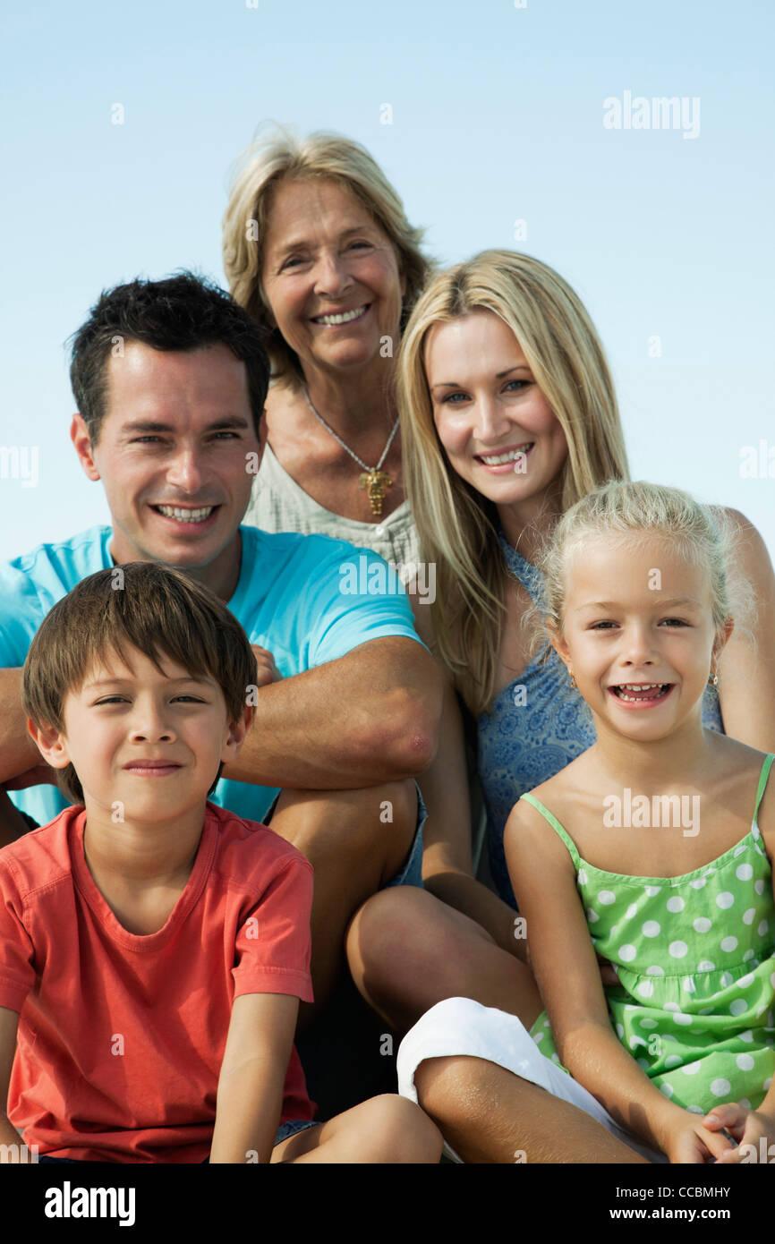 Multi-generation family, portrait - Stock Image
