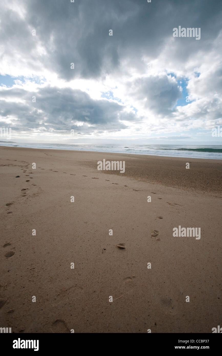 Deserted beach - Stock Image
