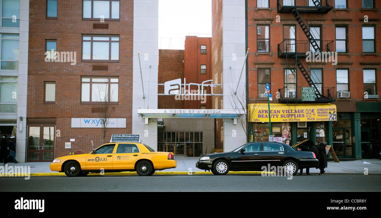 The new Aloft hotel in New York in Harlem - Stock Image