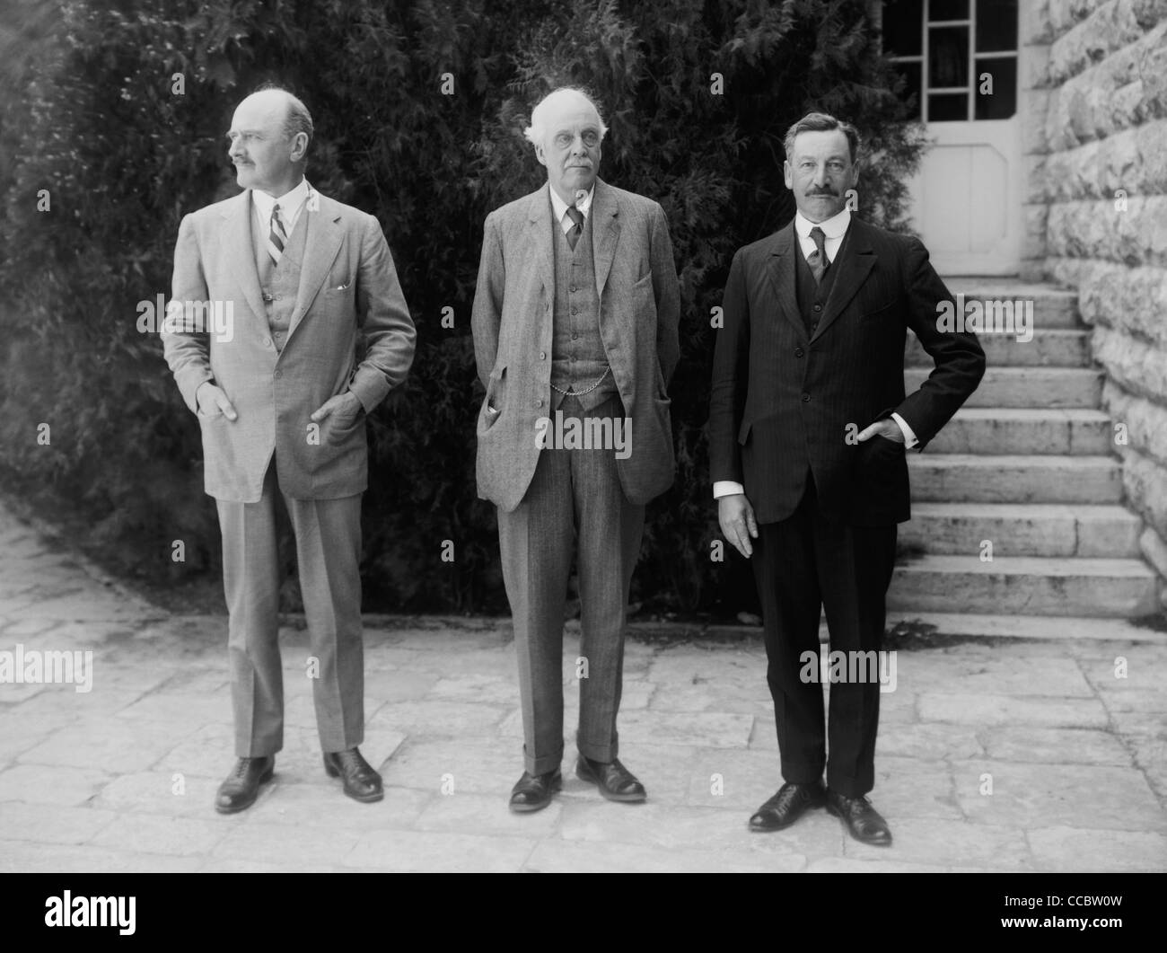 Vintage photo of (left to right) Viscount Allenby (Field Marshal Edmund Henry Hynman Allenby, 1st Viscount Allenby), - Stock Image