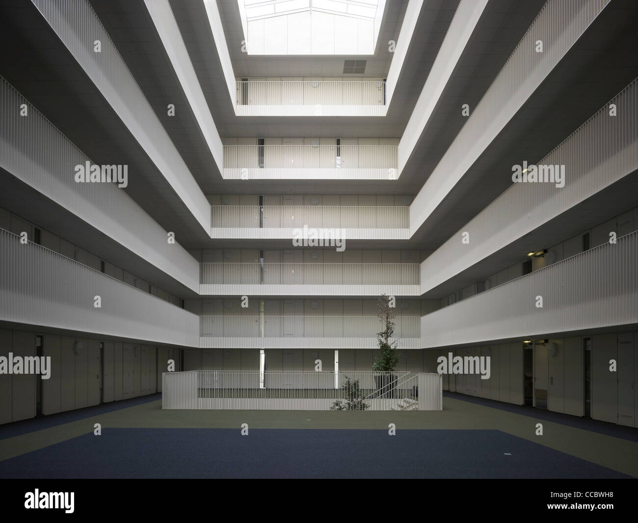 Ijburg Apartments Witte Kaap, Claus + Kaan Architects, Amsterdam,  Netherlands, 2010, View Of Atrium With Skylight