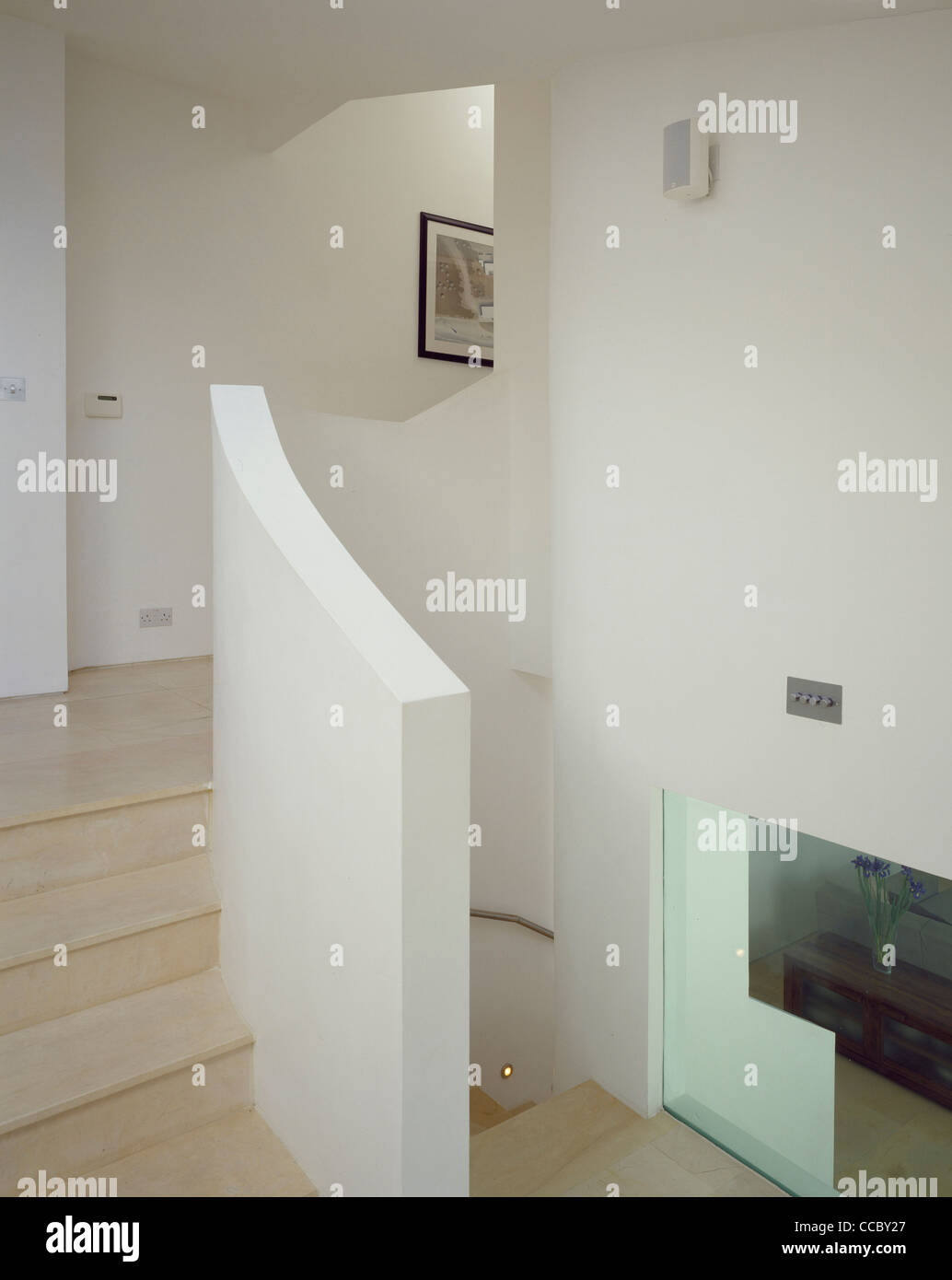 PRIVATE HOUSE STAIRS - Stock Image