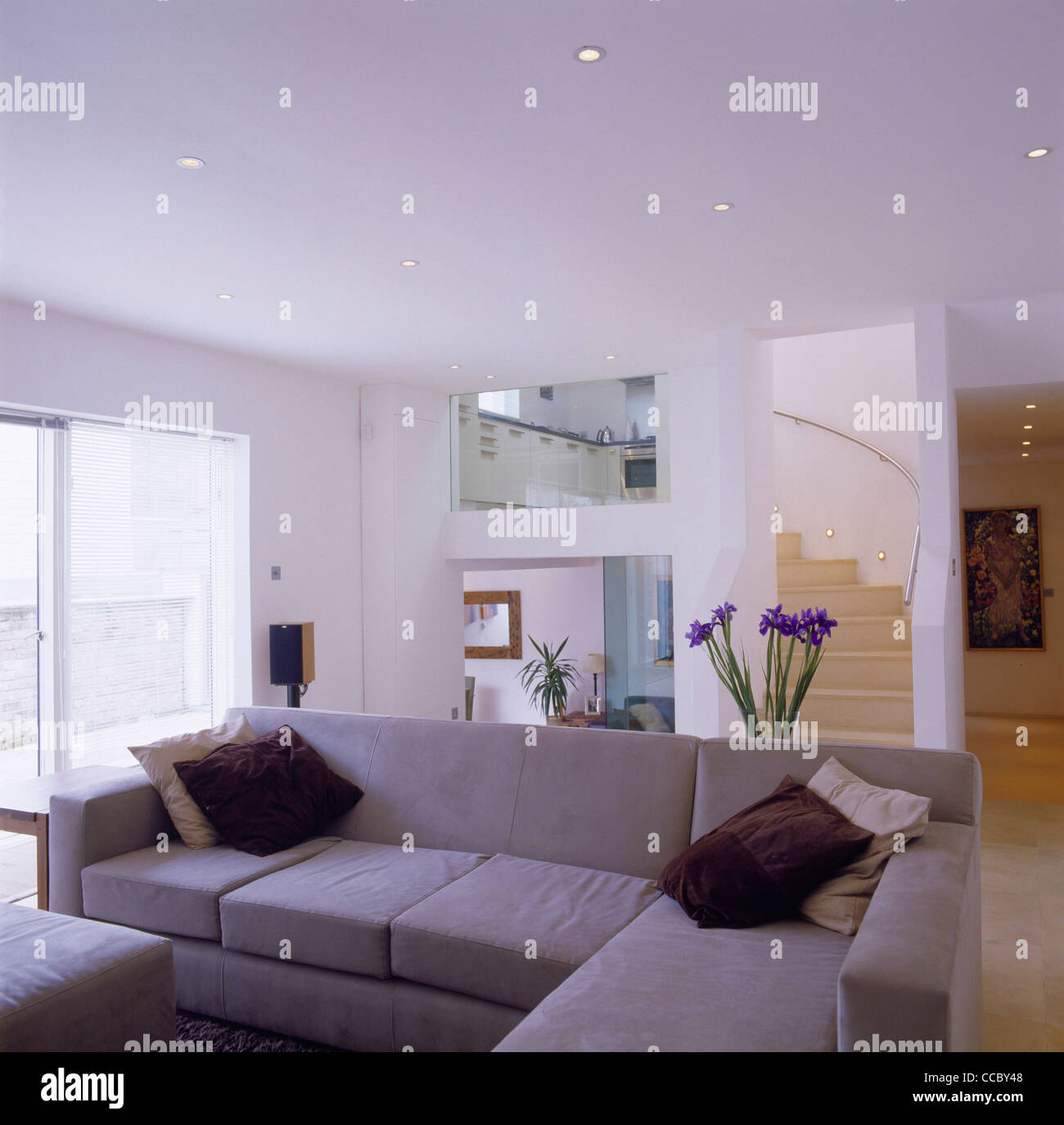 PRIVATE HOUSE LIVING ROOM - Stock Image