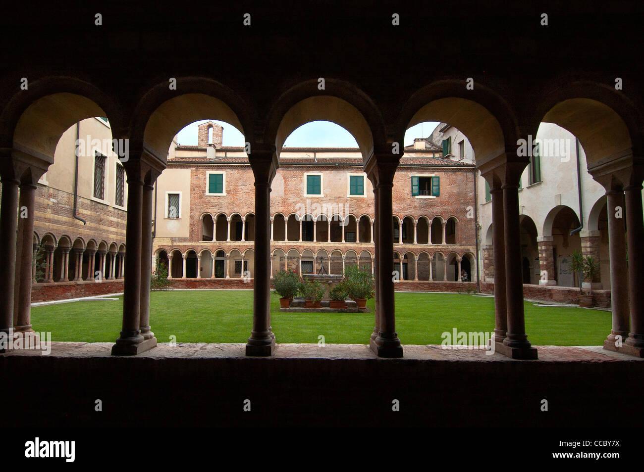 Canonical Museum, Verona, Veneto, Italy - Stock Image