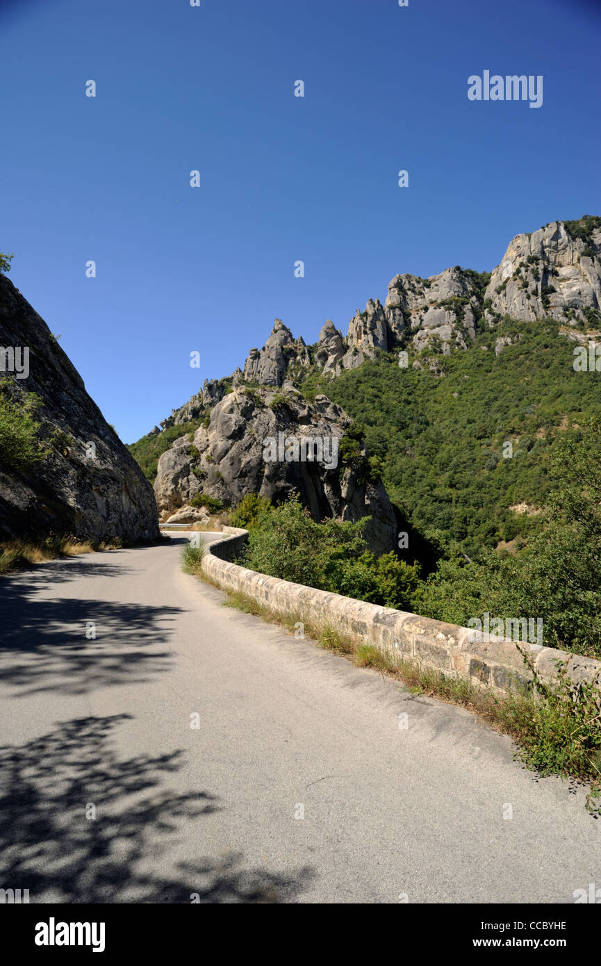 italy, basilicata, dolomiti lucane regional park, the road to castelmezzano Stock Photo