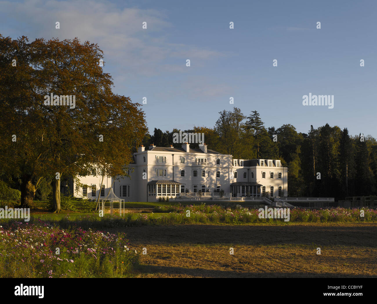 Coworth Park Is A New Luxury Country House Hotel Set In Beautiful Parkland Near Ascot, Berkshire, England, Uk. It''S Stock Photo