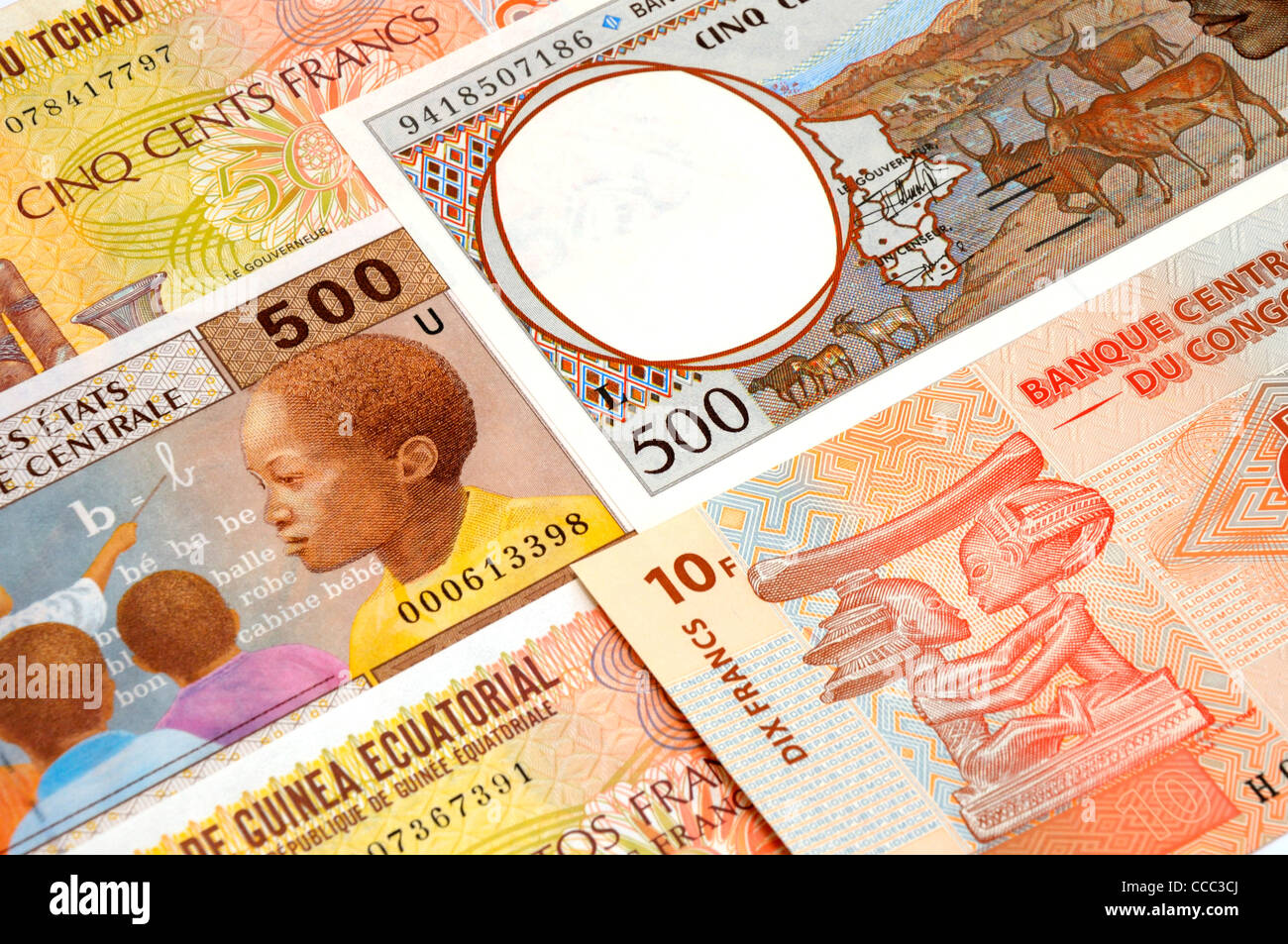 Central African Banknotes. - Stock Image