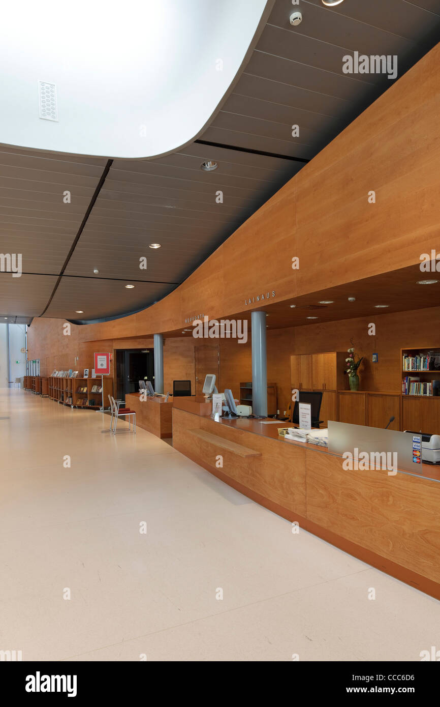The 2,000 Sq M Hollola Library (Hollolan Kirjasto) Was Designed By Professor Jyrki Tasa And Teemu Tuomi, And Opened - Stock Image