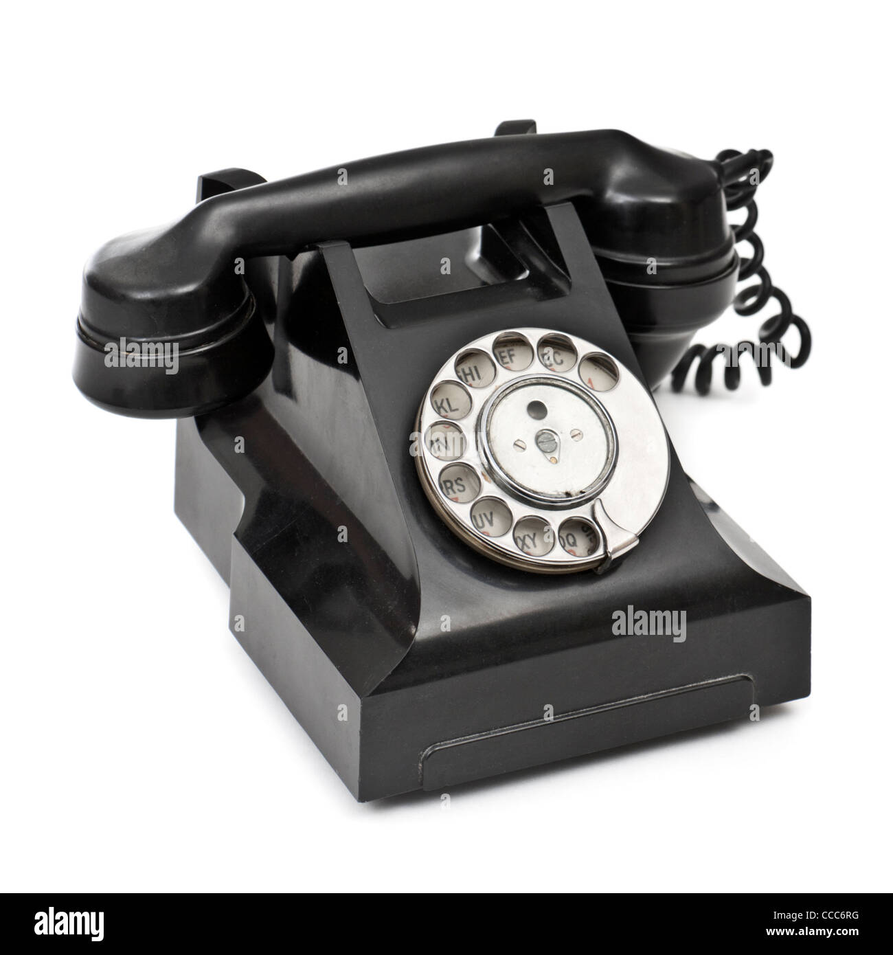 1930's British GPO rotary dial bakelite home telephone (model 332L, FWR 65/2) - Stock Image