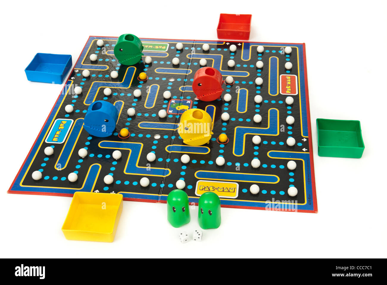 Vintage 1980's Pac-Man board game version of the classic arcade game by NAMCO - Stock Image