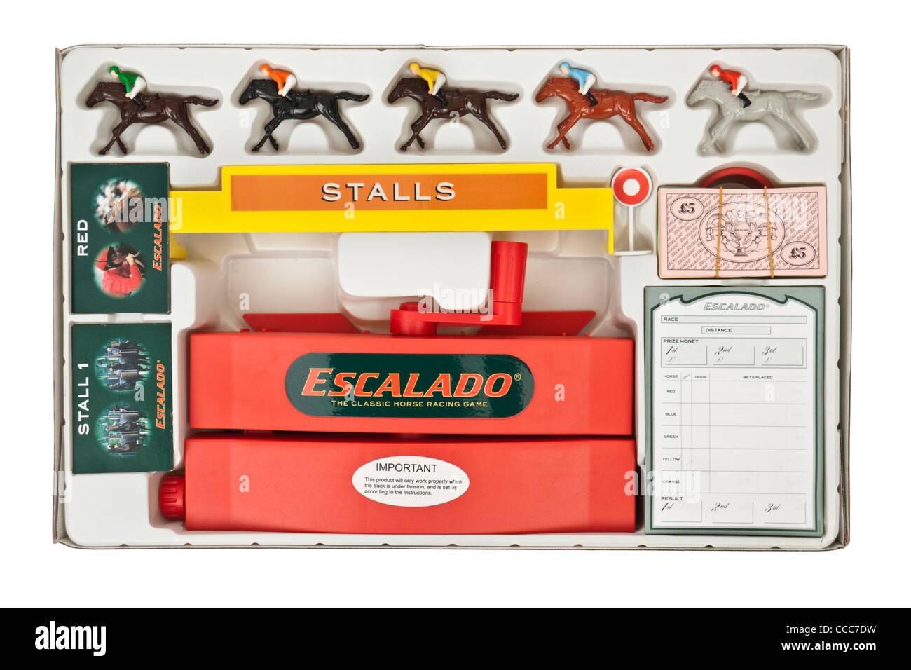 Escalado Horse Racing Board Game Stock Photo Alamy