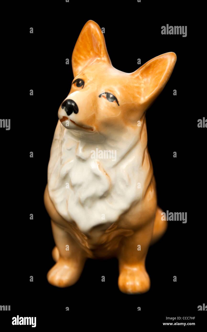 1950's Sylvac Corgi dog figurine No 3128 - Stock Image