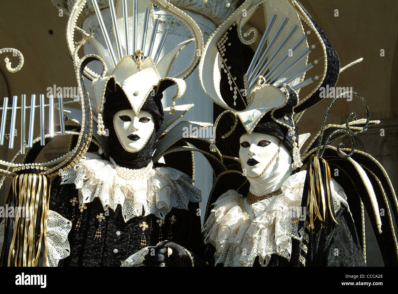 Venice Carnival, costumes and masks Stock Photo 42067936