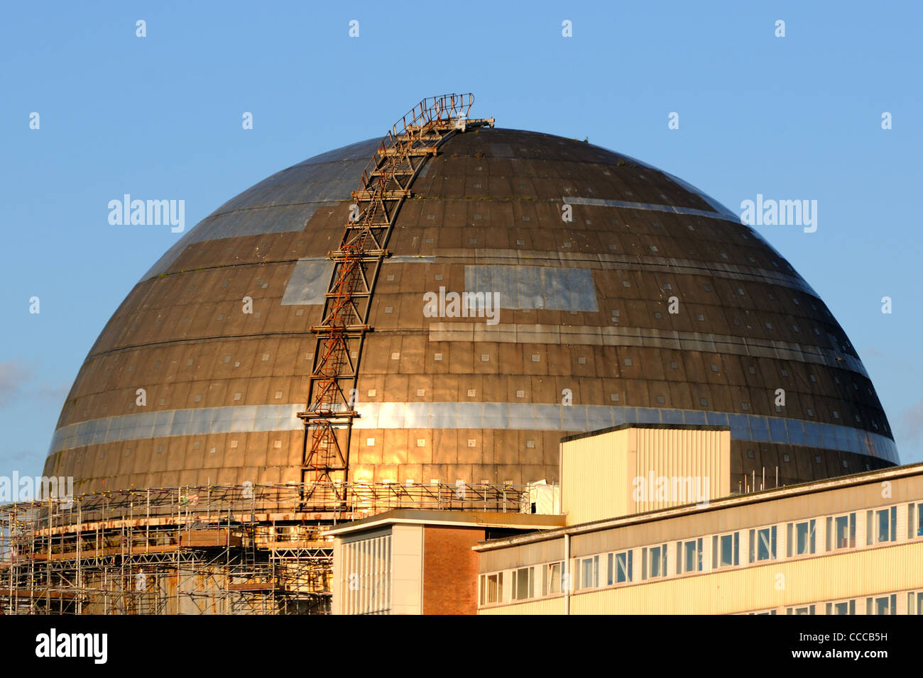 One of the decommissioned nuclear reactor buildings at Sellafield Power Station, Cumbria - Stock Image