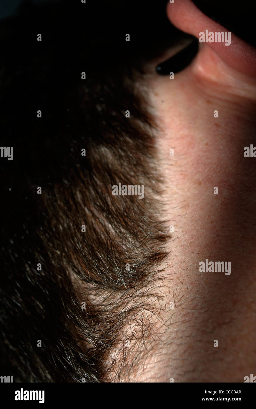 The neck of a Man - Stock Image