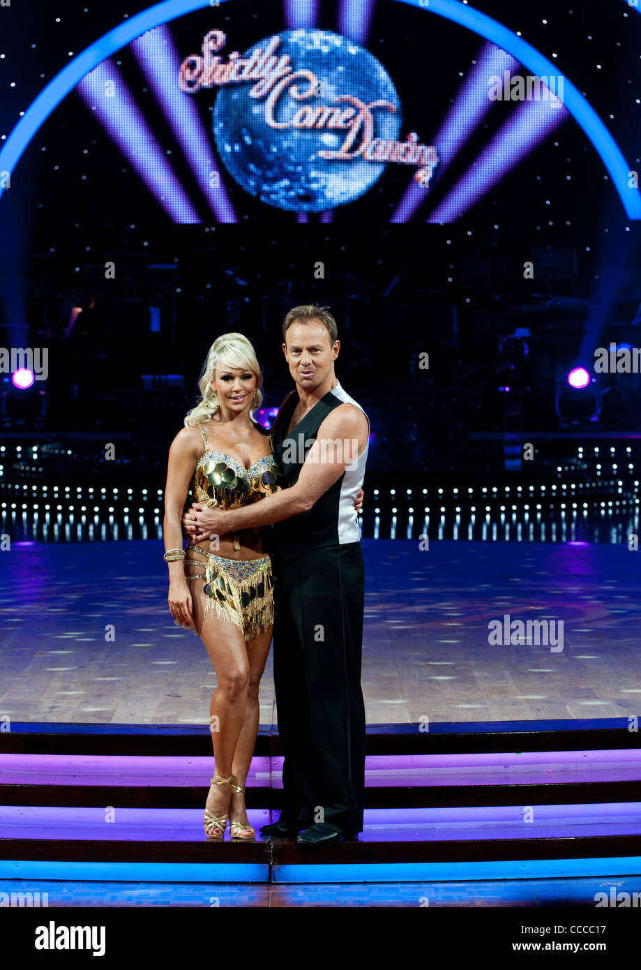 Kristina Rihanoff and Jason Donavon at the Strictly Come Dancing photo shoot at the national indoor arena in Birmingham. - Stock Image