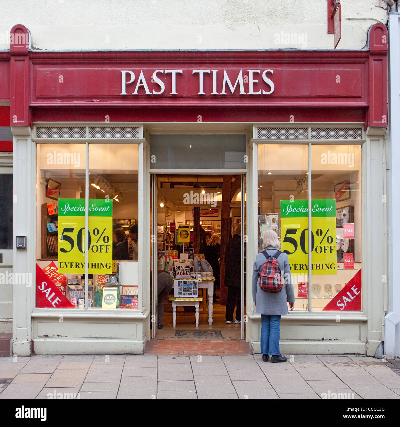 Past Times shop store Canterbury High Street UK. Business Now Ceased. - Stock Image