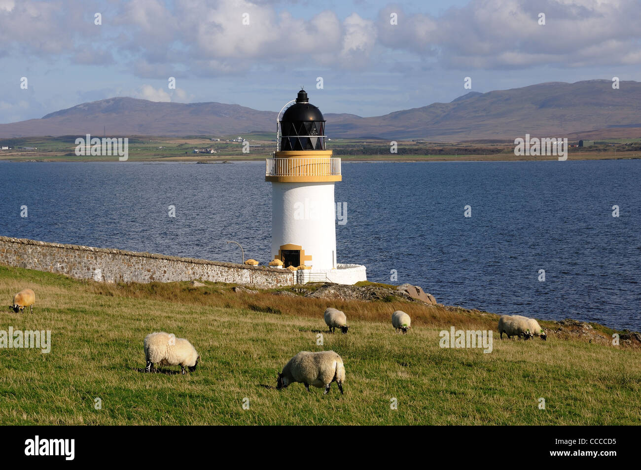 Loch Indaal Lighthouse, Islay - Stock Image