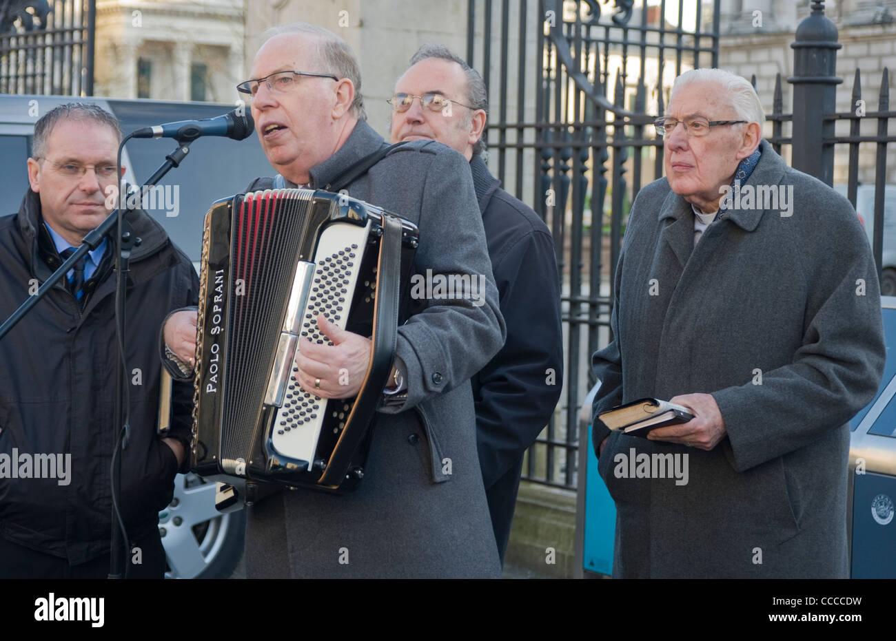 Reverend Ian Paisley at Belfast City Hall - Stock Image