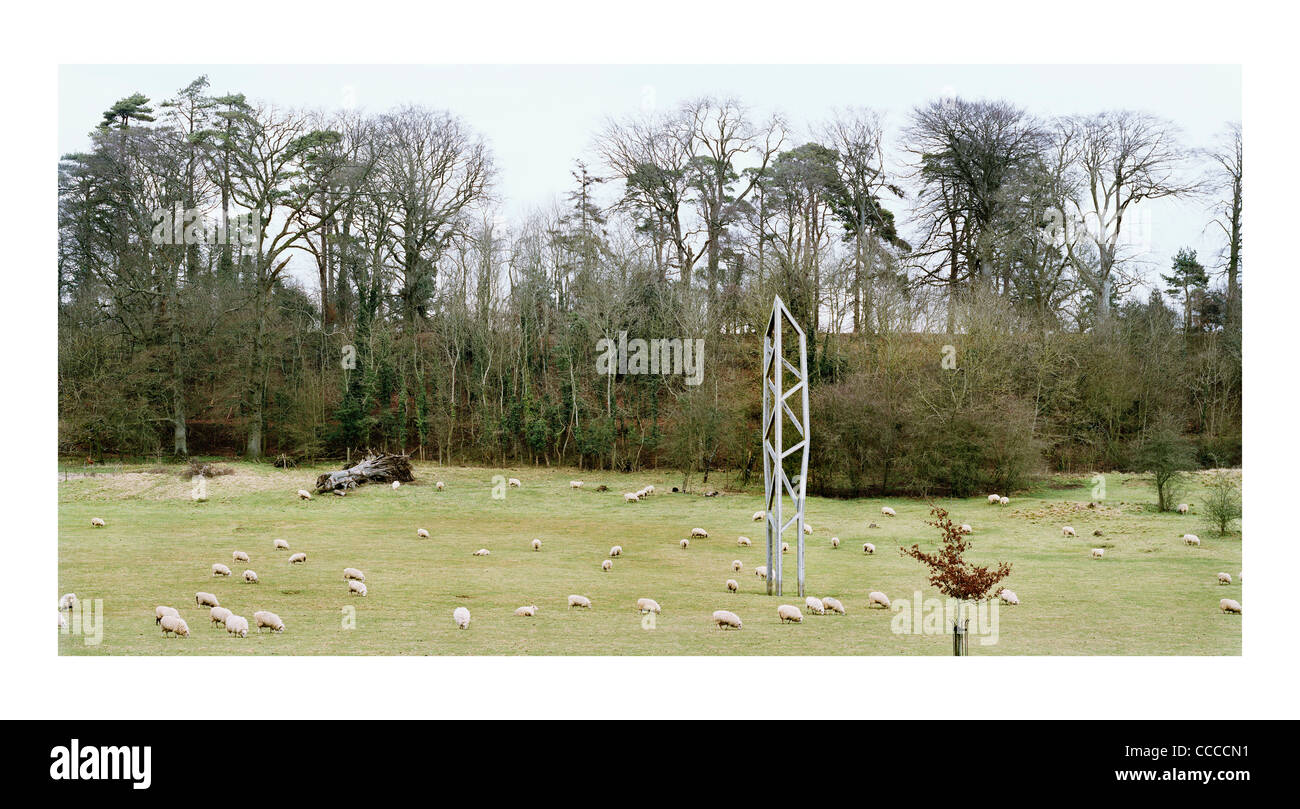 Obelisk Castle Carey United Kingdom Peter Smithson 2002 - Stock Image