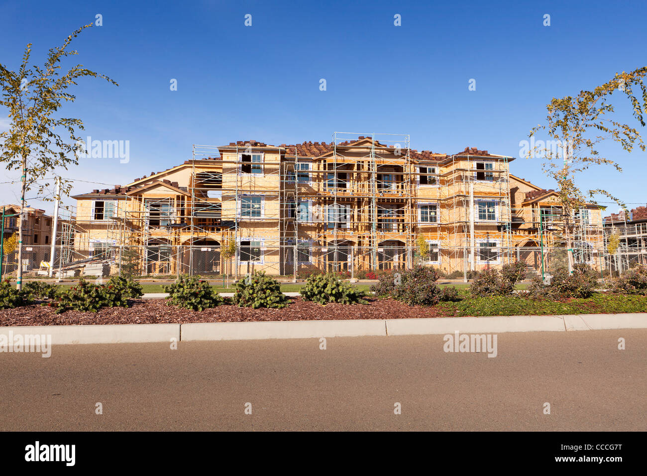 New condominium building under construction - Stock Image