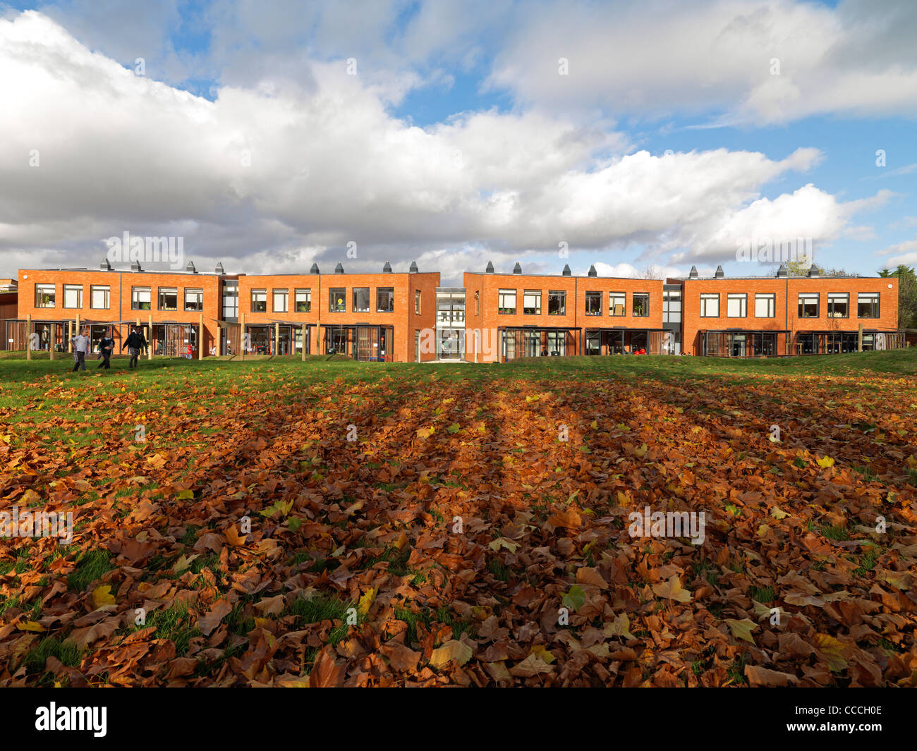 Ptea Has Designed A New School In A Residential Conservation Area That Improves Teaching Space, Creates New Facilities - Stock Image
