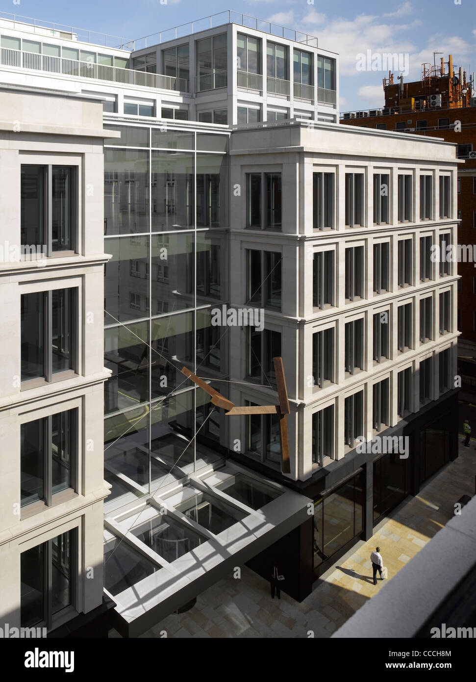 New Mixed Use Building That Contributes To The Revitalised Commercial And Public Life Of The Street. Careful Consideration - Stock Image