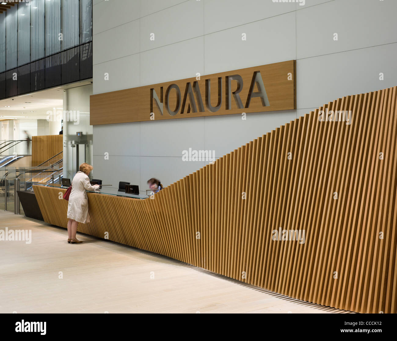 Office Entrance Lobby To Watermark Place Occupied By Nomura Stock
