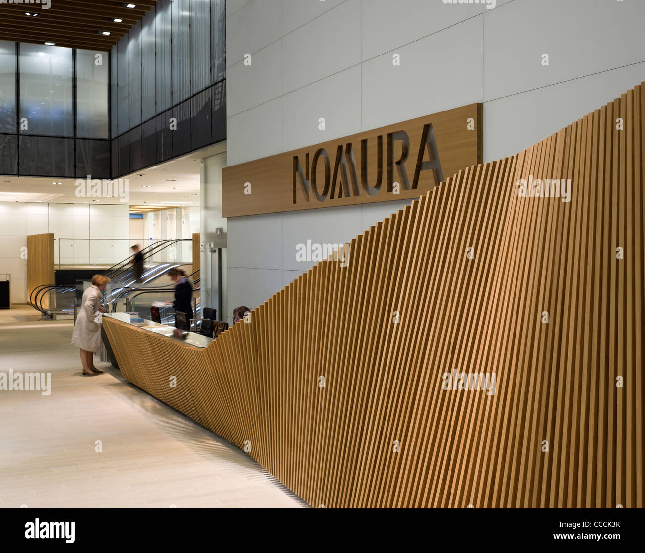 Office Entrance Lobby To Watermark Place, Occupied By Nomura. Architecture  By Fletcher Priest And Lighting Design By Waterman