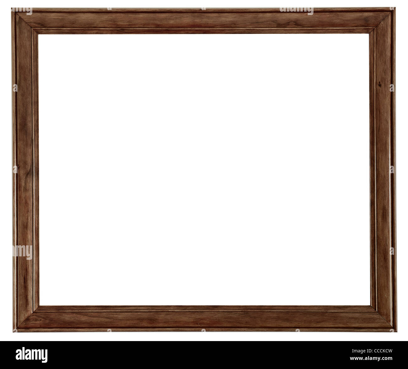 A wooden picture frame isolated on a white background Stock Photo