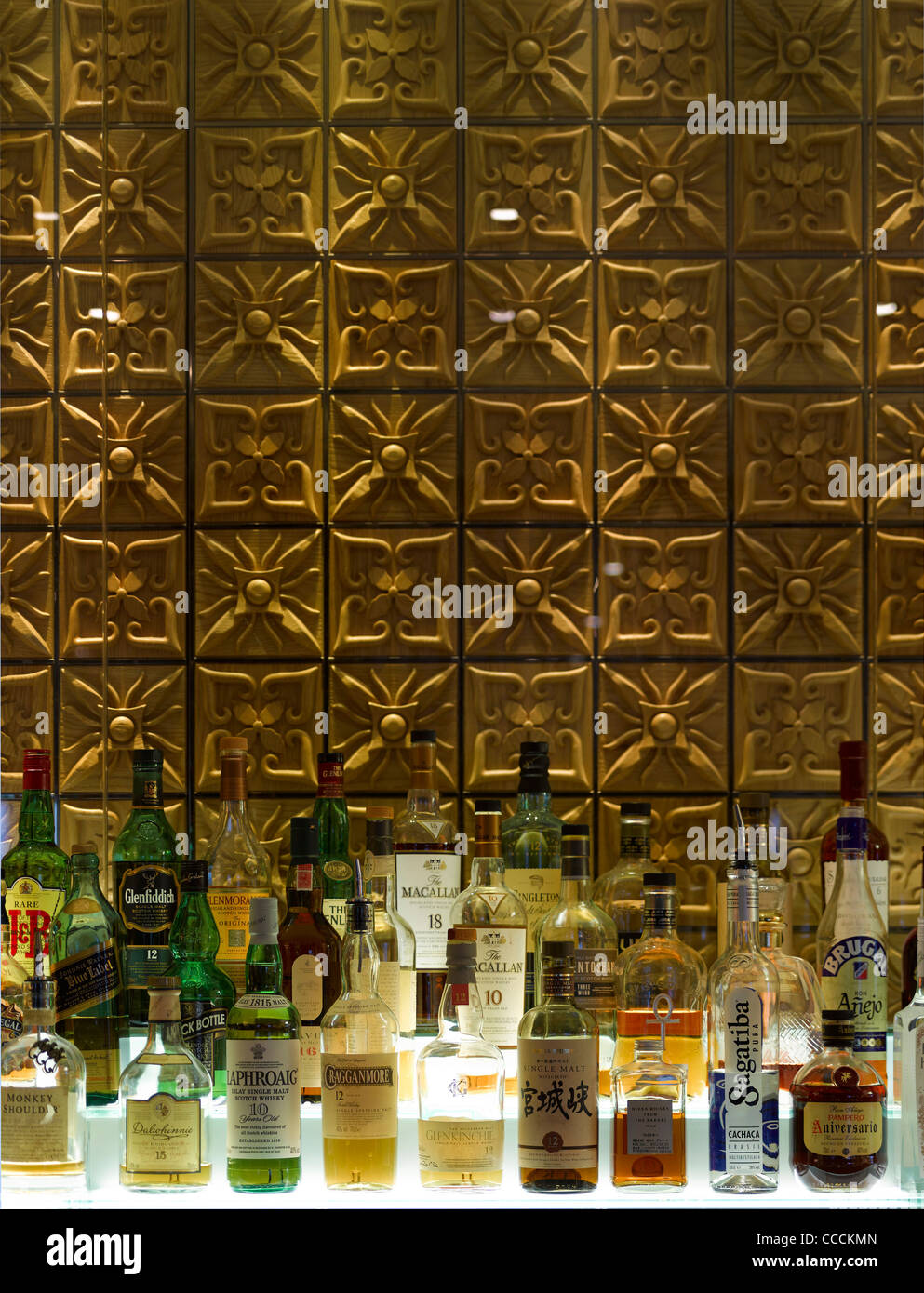Aqua Restaraunt, London, Glamorous, 2011-bar - Stock Image