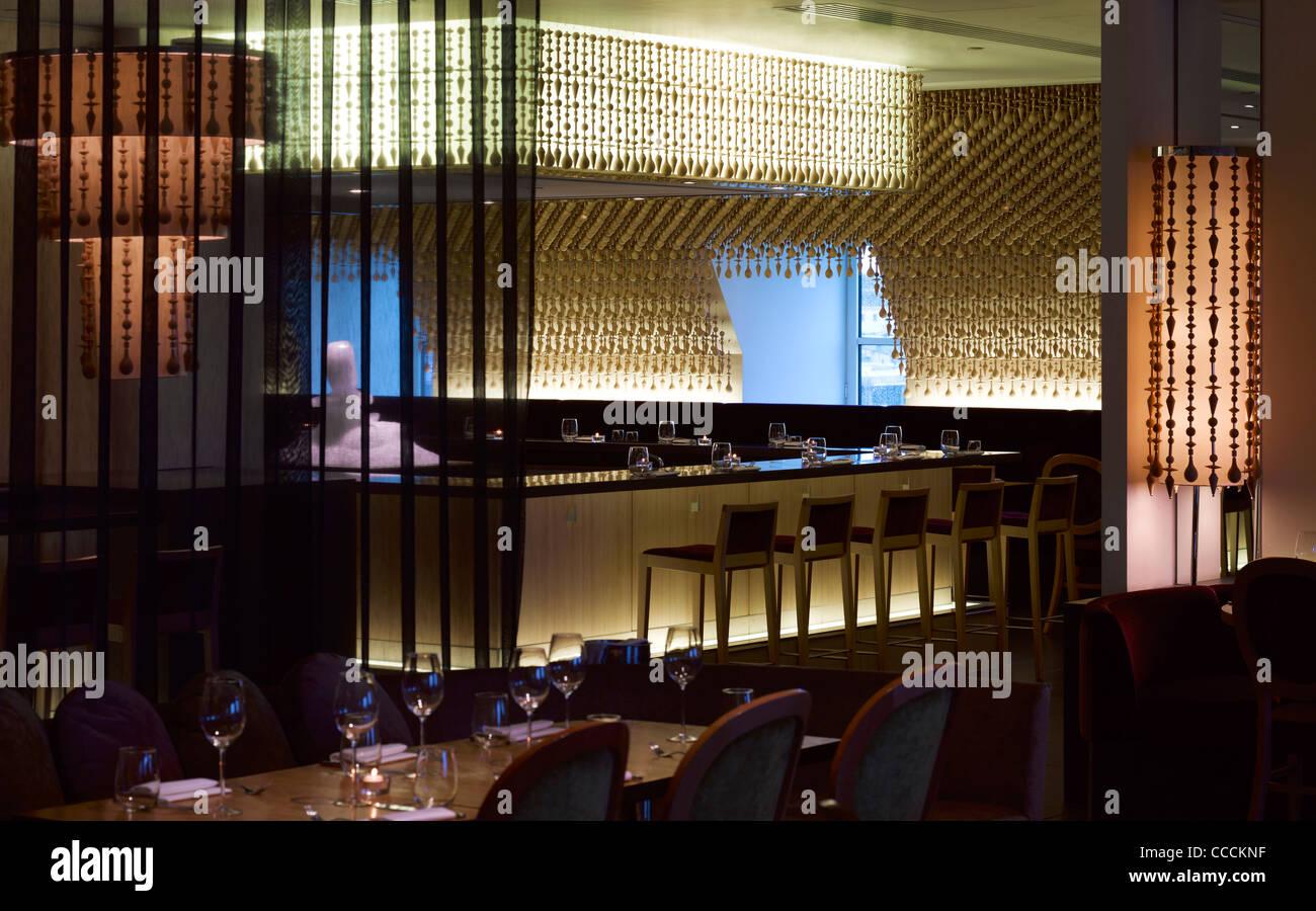 Aqua Restaraunt, London, Glamorous, 2011-overall view - Stock Image