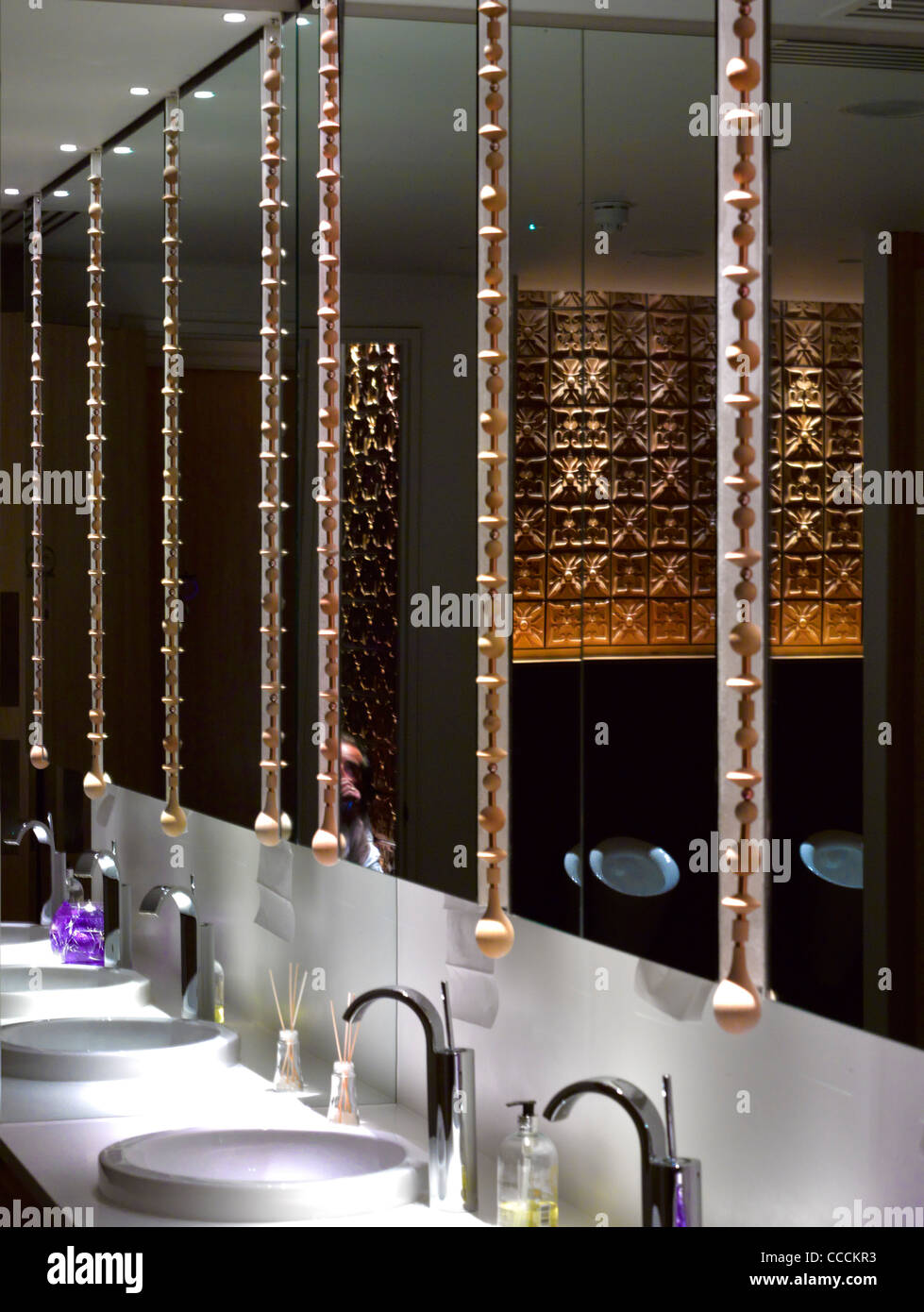 Aqua Restaraunt, London, Glamorous, 2011-toilet - Stock Image