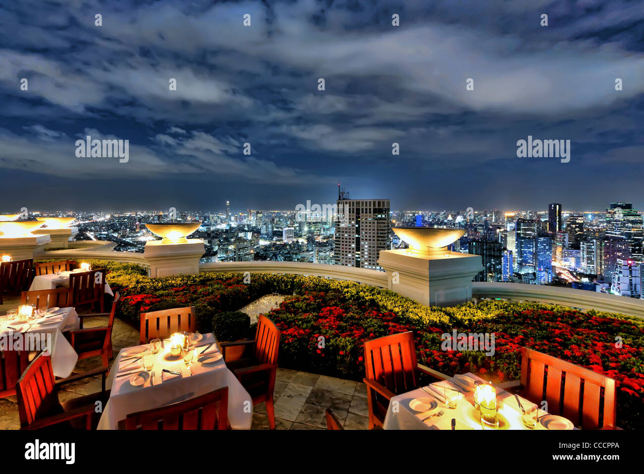 Sky High Dining @ Sirocco | Bangkok - Stock Image
