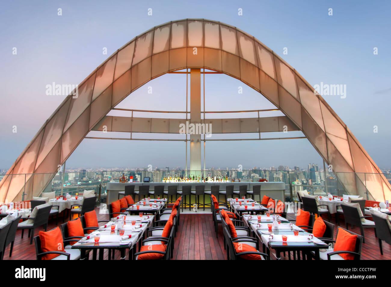 Red Sky Bar | Centara Grand | Bangkok - Stock Image
