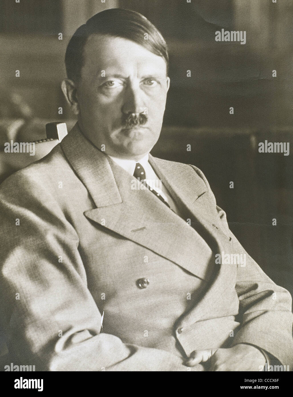 Adolf Hitler (1889-1945). Leader of the National Socialist German Workers Party. Photography. - Stock Image