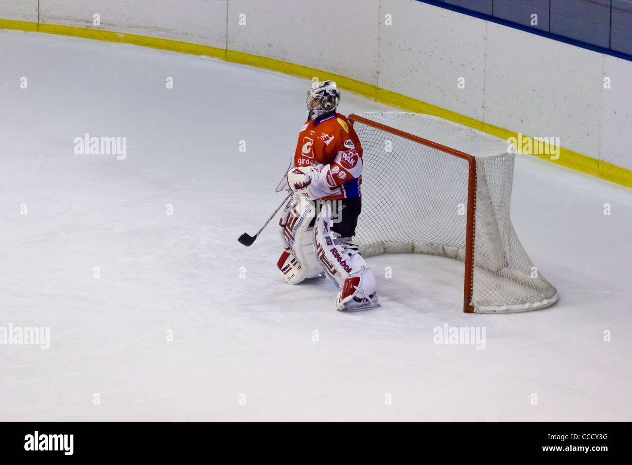 The loneliness of the goalkeeper - Stock Image