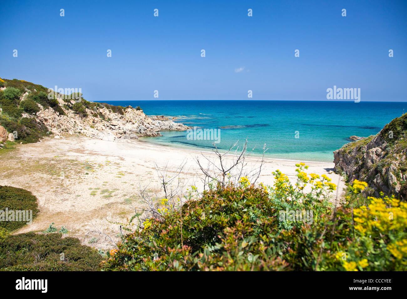Portu de s'illixi, Cala Sa Figu, Capo Ferrato, Feraxi, Costa Rei. Muravera (CA), Sardinia, Italy, Europe - Stock Image