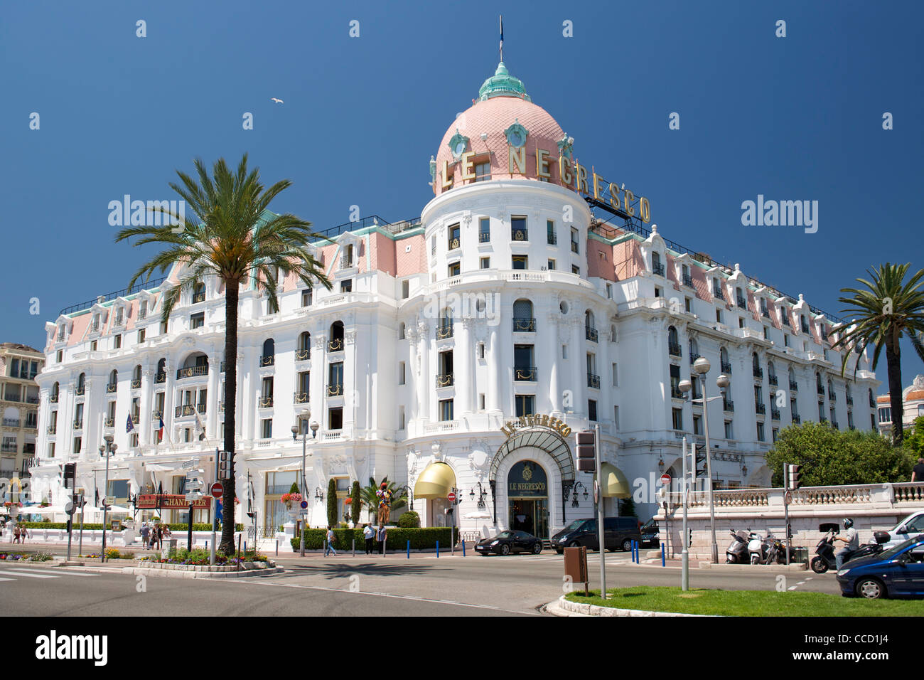 The Negresco hotel in Nice on the Mediterranean coast in southern France. - Stock Image
