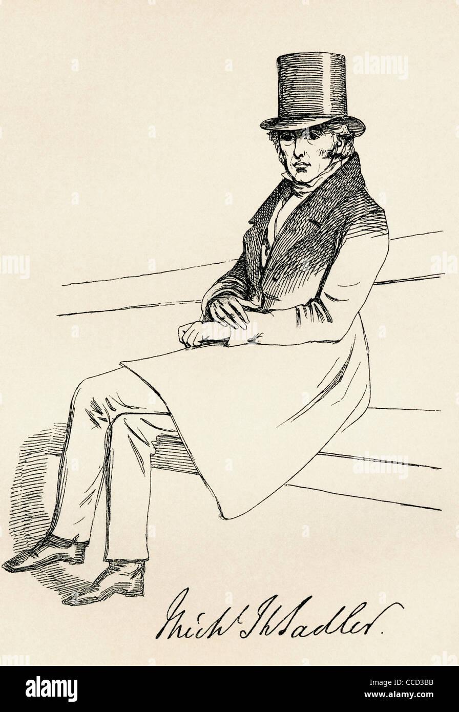 Michael Thomas Sadler, 1780 –1835. British Tory Member of Parliament. - Stock Image
